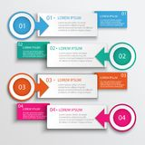 Four Step Infographic Design Modern Vector Illustration Stock Photography