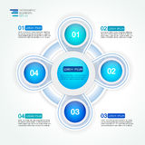 4  four step options cycle process diagram. 4 step options cycle process diagram. Infographic vector template for reports, plans,presentation,web Royalty Free Stock Photo