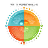 Four Step Progress Infographic. Vector illustration of four step progress infographic element Royalty Free Stock Photography