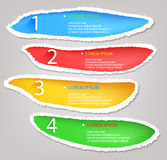 Four Step Torn Paper Infographic Design Royalty Free Stock Images