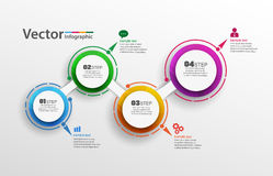 Four steps abstract infographics  number options template. Can be used for workflow layout, diagram, business step options, banner, web design. Vector Royalty Free Stock Images