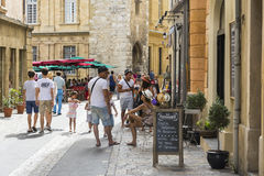 Four steps in Aix en provence Royalty Free Stock Image