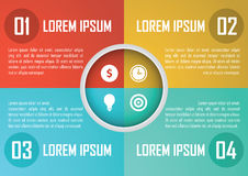 Four steps circle infographics design template, diagram, present Royalty Free Stock Images