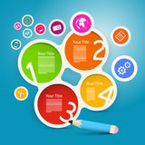 Four Steps Circle Infographics Layout Stock Photo