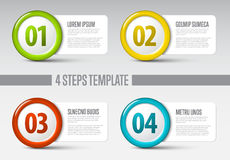 Four steps circle template. One two three four - vector progress icons for four steps Stock Photography