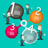 Four Steps Circle Vector Infographic Layout Royalty Free Stock Photography