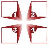Four steps diagram,  Stock Photos