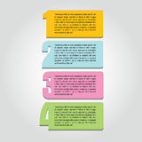 Four steps Royalty Free Stock Images