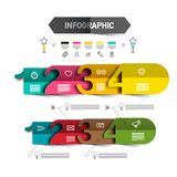 Four Steps Infographic Template with Icons vector illustration