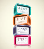 Four steps Stock Photos
