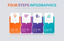 Four Steps Infographics Royalty Free Stock Photos