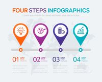 Four Steps Infographics Royalty Free Stock Photography