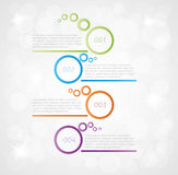Four steps infographics. On gray gradient background Stock Images