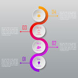 Four steps infographics. Infographic template. Four steps infographics. Infographic timeline template vector illustration