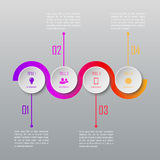 Four steps infographics. Infographic template. Four steps infographics. Infographic timeline template stock illustration