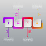 Four steps infographics. Infographic template. Four steps infographics. Infographic timeline template royalty free illustration