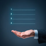 Four steps infographics. Four steps (4-steps) infographics with manager or businessman Royalty Free Stock Photos