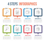 Four Steps Infographics. Process chart template, four steps infographics Royalty Free Stock Image