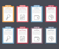 Four Steps Infographics Royalty Free Stock Image