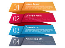 Four Steps Infographics Stock Image