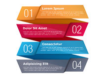 Four Steps Infographics Stock Photo
