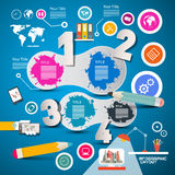 Four Steps Modern Infographics Layout Royalty Free Stock Image