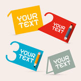 Four Steps Paper Vector Infographic Layout Royalty Free Stock Photos