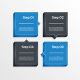 Four steps process arrows - design element. Vector. Royalty Free Stock Image