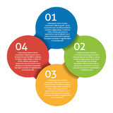 Four steps process - design element. Vector. Royalty Free Stock Image