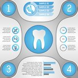 Four steps to healthy teeth. Infographic template vector illustration Stock Photos