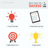 Four steps to Success Infographic Stock Images