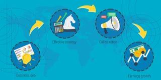 Four steps to success Stock Photos