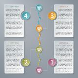 Four steps vector timeline infographic template. Stock Image
