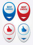 Four stickers best choice,ok Stock Photography