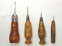 FOUR STITCHING AWLS Royalty Free Stock Photo