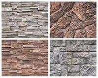 Four stone texture Royalty Free Stock Photos