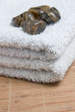 Four stones in towel Royalty Free Stock Photography
