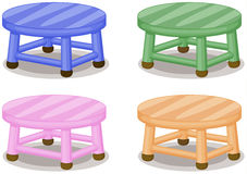 Four stools Stock Images