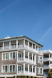 Four Story Beach Homes with Wood Siding Royalty Free Stock Photos