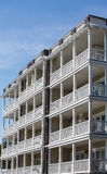 Four Story Verandas on Coastal Home Stock Image