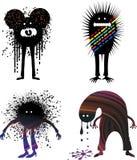 Four strange people Stock Image