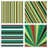 Four striped background pattern Stock Image