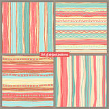 Four striped backgrounds Stock Photo