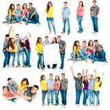 Four students Royalty Free Stock Photos