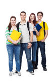 Four Students Smiling on White Stock Photos