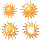 Four style of golden sun Stock Image