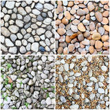 Four styles of rough stone background Stock Image
