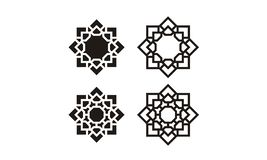 Silhouette of Arabic Glass Pattern stock illustration