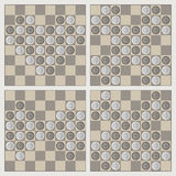 Four stylish figures of draughts Royalty Free Stock Photos