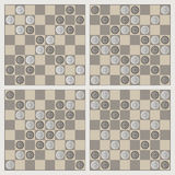 Four stylish ornaments of draughts Royalty Free Stock Photos